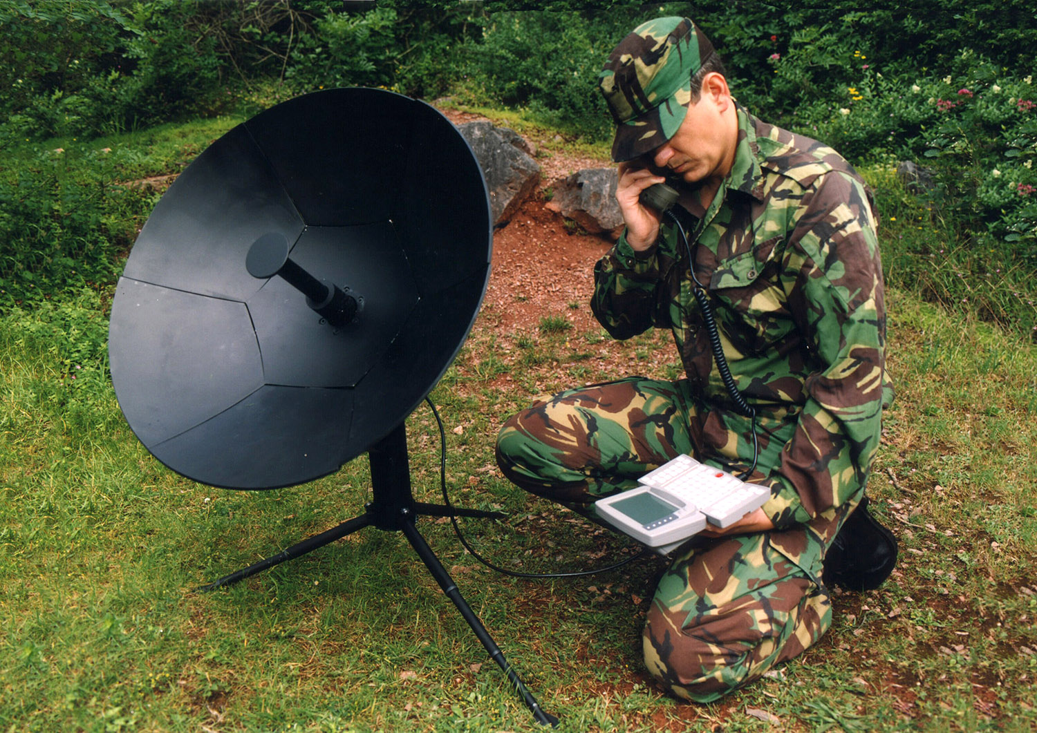 Portable satellite comms